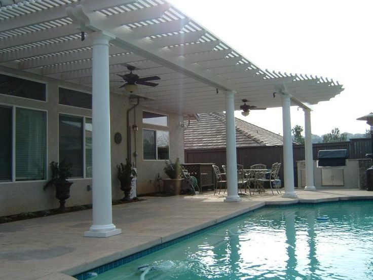 wood and aluminum patio covers