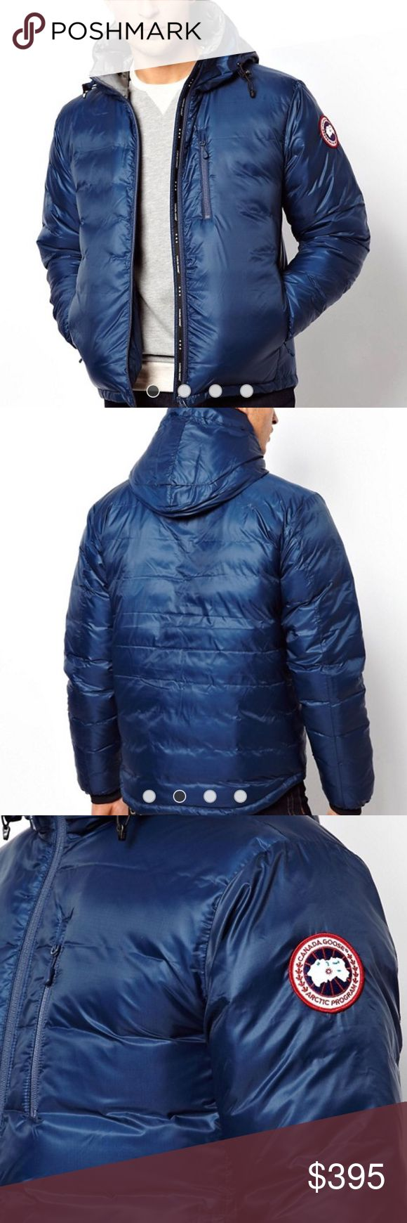"""Authentic Blue Canada Goose Men's Jacket Get Canada Goose on a bargain. Men's size medium  jacket.  Excellent condition. I believe it was a """"3"""" on their warmth scale. Canada Goose Jackets & Coats Puffers"""