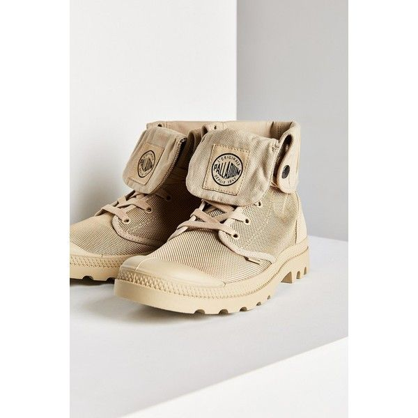 Palladium Monochrome Baggy II Boot ($60) ❤ liked on Polyvore featuring shoes, boots, laced boots, foldover boots, grip shoes, fold over cuff boots and lace up fold over boots