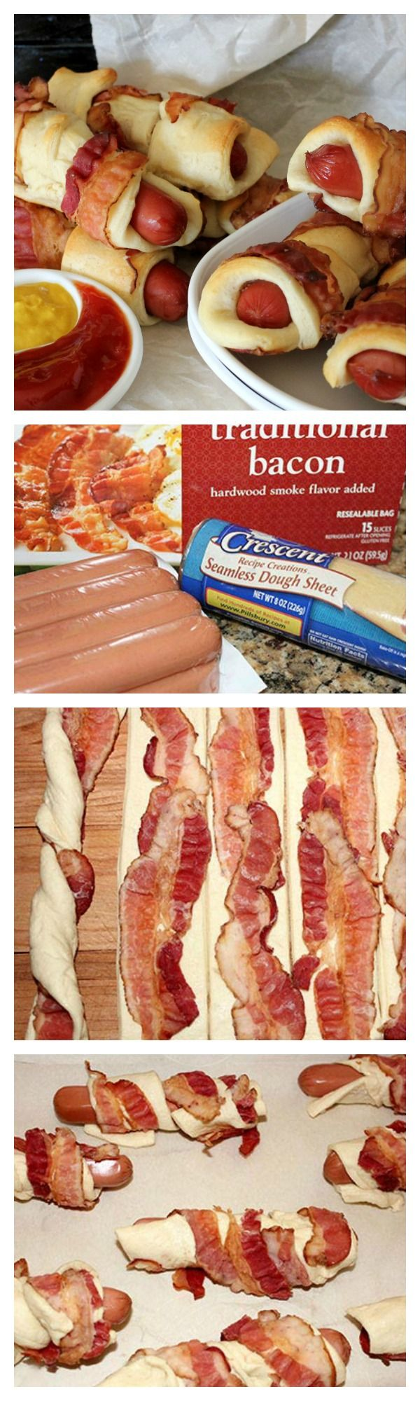 BACON wrapped crescent dogs!