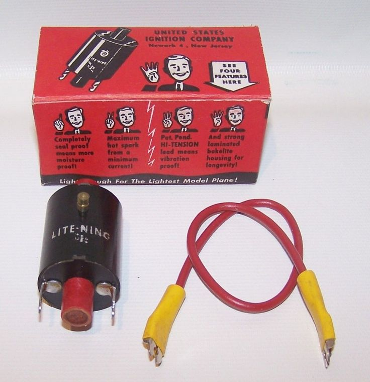 NIB Lite-Ning Spark Coil For Model Airplane-Tether Car Engine With Extras | eBay