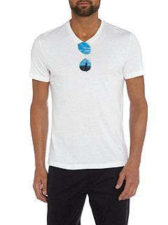 Sunglasses Graphic V Neck T-Shirt