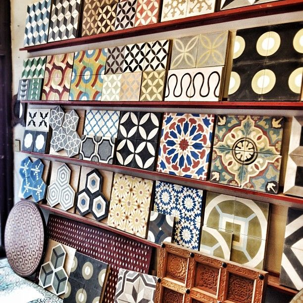 Encaustic Cement tiles heaven.   interior design nyc Photo by albertochan