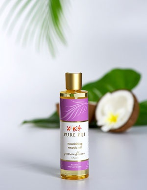 Pure Fiji Exotic Bath & Body Oil - Passionflower Infusion  Pure Fiji Product Tropical, Natural, Organic Body Care
