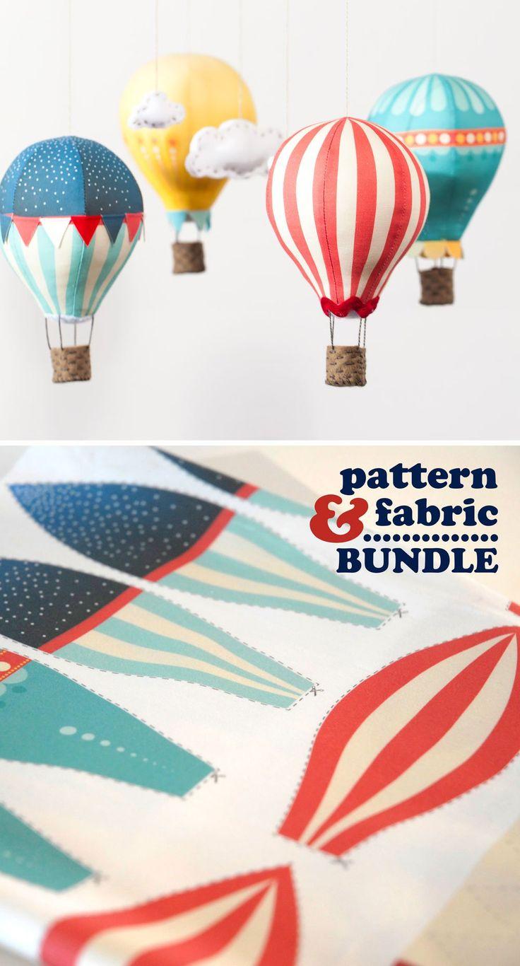 Air Balloon Sewing Pattern Fabric panel