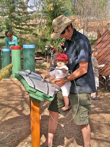 Location: 5 minutes from downtown Moab, near Mill Creek Parkway                 Best For: Ages 1 to 7                 This music-themed play area looks more like it sprung from the Brazilian rainforest than the Utah desert. Encourage your little musicians to create their own percussion tunes by hitting a series of drums, chimes, and African-inspired instruments called amadindas and imbarimbas (types of xylophones) with either their hands or batons (which are attached to the instruments)…