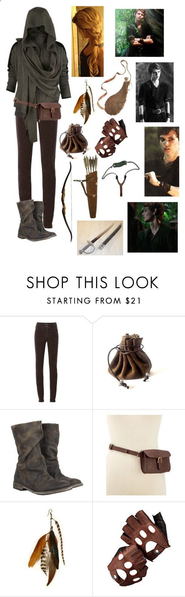 Lost Girl - Peter Pan by blackwidow321 ❤ liked on Polyvore featuring Armani Jeans, AllSaints, Style  Co., Gilded Lily Goods, Aspinal of London, Once Upon a Time, womens clothing, women, female and woman