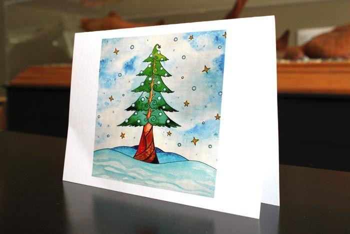 Tree - art by Laura Timmermans (Seasonal greeting Cards)