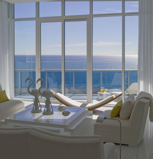 Modern hammock ideas white sofa sea decoration