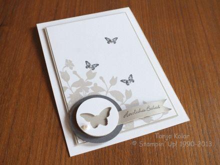 Wunderschöne Trauerkarte von Tanja Kolar mit SU mini-Schmetterlingsstanze