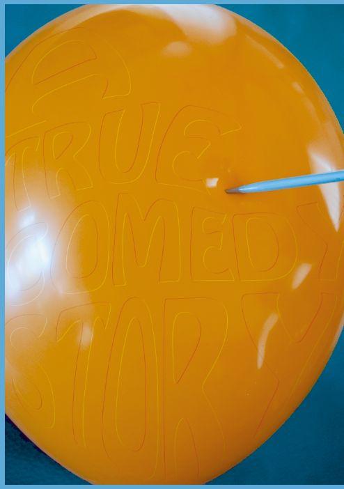 effecten in photoshop toegepast, zodat de letters precies echt deel uitmaken van de ballon,ik ben met dit ontwerp niet meer verder gegaan, de typografie kwam hier minder tot z'n recht, de aandacht gaat eerder naar de ballon