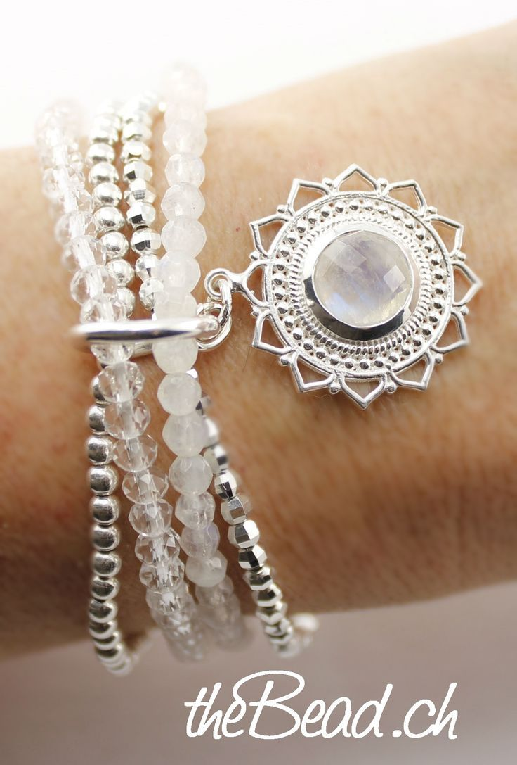 great pearl bracelet RAINBOW MOONSTONE with …
