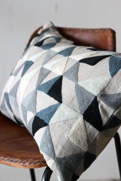 Harlequin Geometric Cushion by Niki Jones - Grey Tones - Cushions - Home Accessories £100