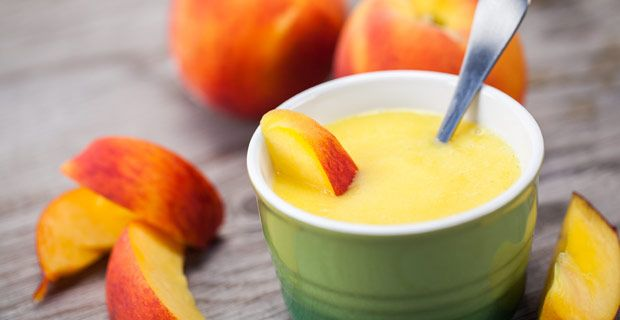 Peach Baby Food... using a Blendtec blender, but could use another instead!