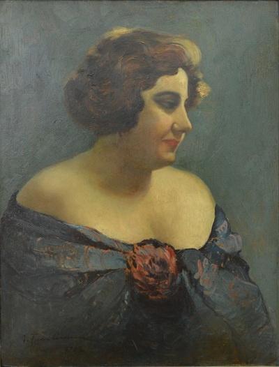 Portrait of Actress Aura Fotino, 1927 Ion Tuculescu