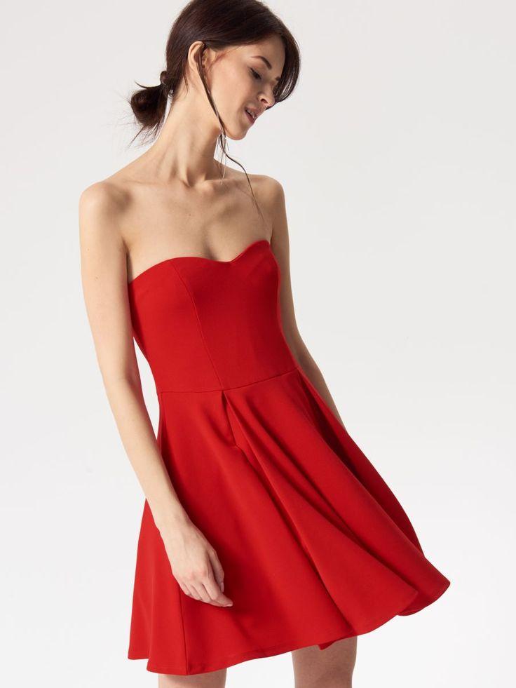 Czerwona sukienka, MOHITO, QV524-33X