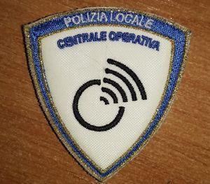 Patch Polizia Locale Centrale Operativa  Rigo Oro  Doppio Velcro NUOVO | eBay