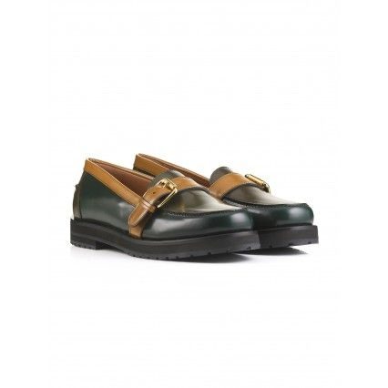 THREE-COLOURED LEATHER BUCKLE #SHOES #lautrechose #style #fashion #Christmas #gift