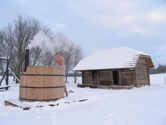 Visit local tourist farms and enjoy jumping from the hot sauna right into a snowdrift! In recent years, outdoor heated bath-barrels have become a hit, too, just be sure to wear a hat if it's cold.