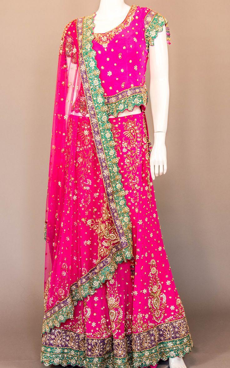 Fuchsia Pink Bridal Lehenga