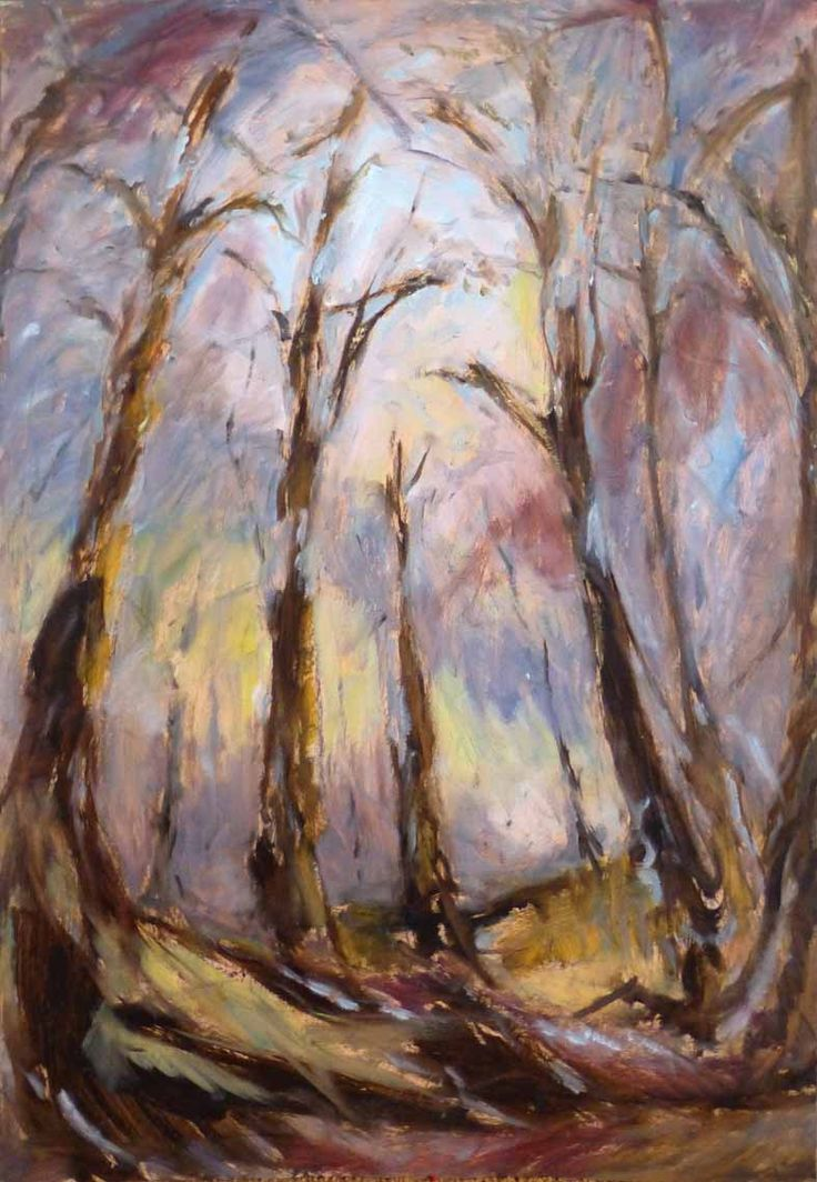 """""""Holy trees"""" by Eduard Moes, Dutch painting artist"""