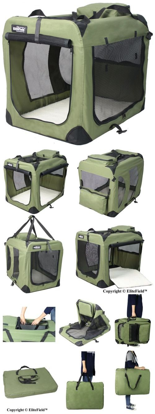 Cages and Crates 121851: Elitefield 3-Door Folding Soft Dog Crate Indoor Outdoor Pet Home Sage Green 30 -> BUY IT NOW ONLY: $50.0 on eBay!