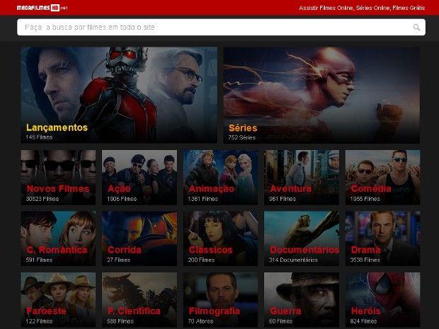 Casal que administrava o portal Mega Filmes HD foi preso em Cerquilho (Foto: Reprodução/Megafilmeshd.net)