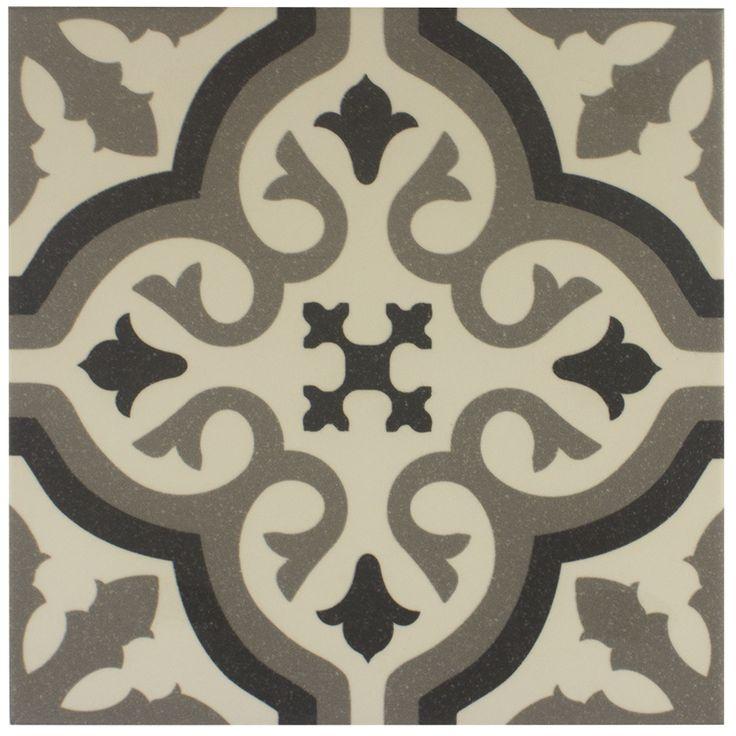 Carrelage imitation carreau ciment sol et mur blanc 20 x - Imitation carrelage autocollant ...