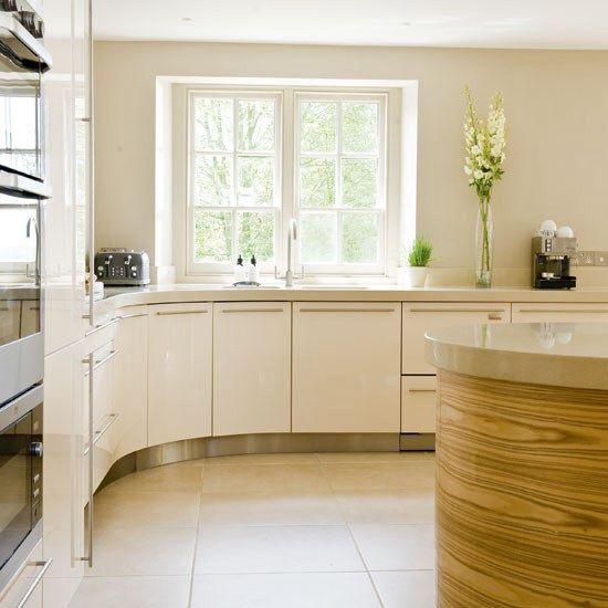 Cream gloss kitchen pale quartz