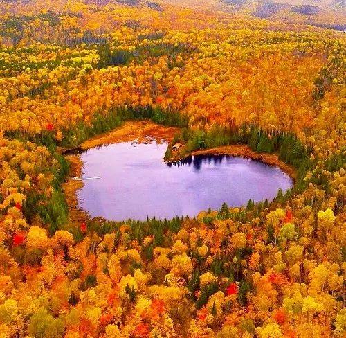 Фотография Осенний Квебек, Канада Вид с Лаврентьевской горы.  Autumn Quebec, Canada View from the Laurentian Mountains.