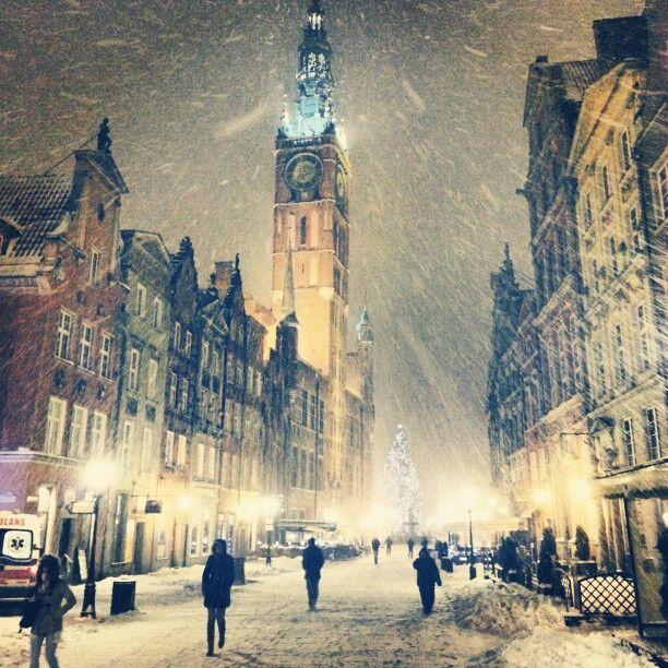 really snowy, but still beautiful. Gdansk, Poland