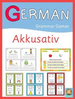 This extensive set of German grammar games in the accusative case contains the following individual sets: Ich habe ... Wer hat? game set - Task cards - PowerPoint quiz/game. More than 170 pages to practice the accusative case.