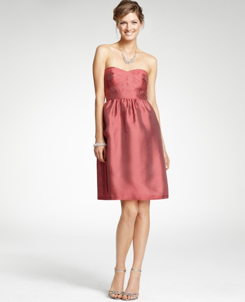 Dusty Rose And Champagne Bridesmaid Dresses