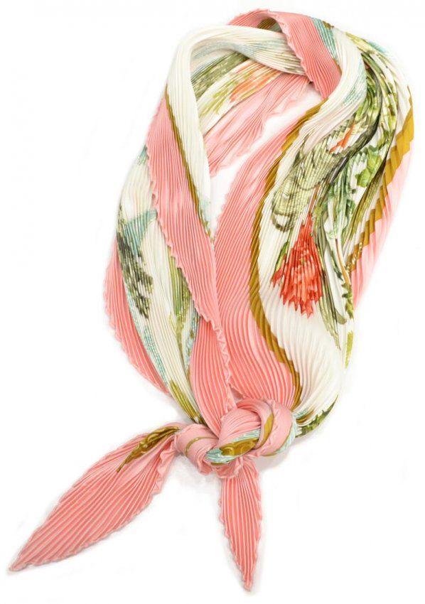 HERMES CARRE PLISSE FLORAL & PINK SILK SCARF :: Hermès Fun, Pliss Floral, Hermè Fun, Pink Silk, Hermes Scarves, Carr Pliss, Hermes Carr, Hermès A Hol, Hermè A Hol
