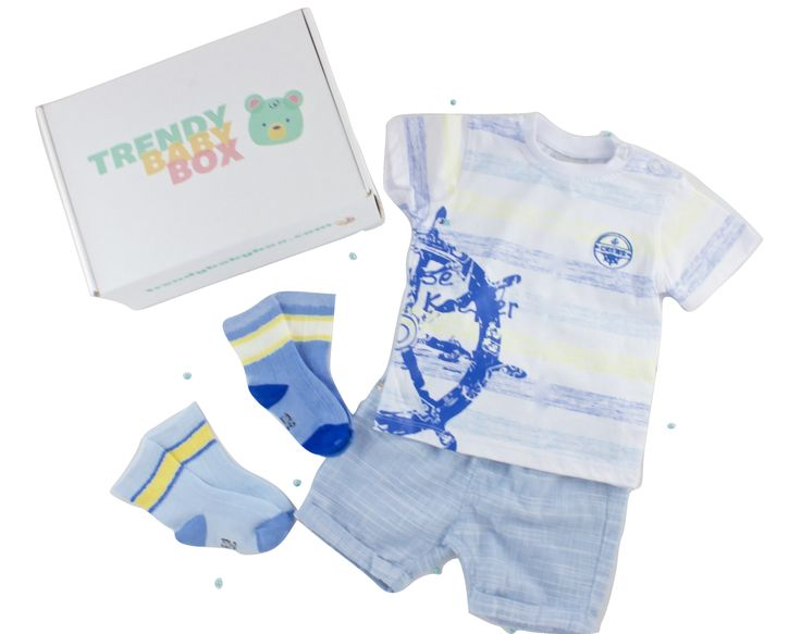 Baby Boy Summer outfit. With 100% cotton shorts and T-shirt. High quality and easy to wash... One of the subscription boxed we've sent out to our Trendy Baby Box Subscribers