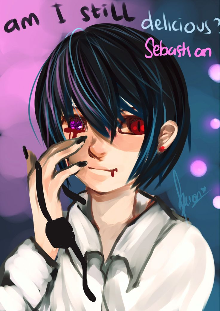 Ciel Phantomhive Demon Version Digital Painting