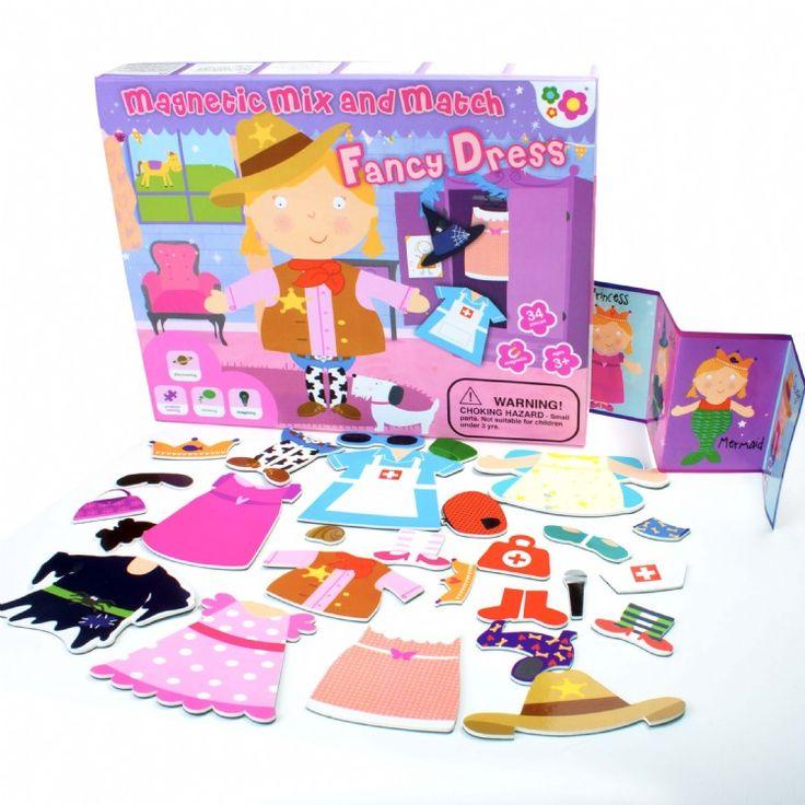 SET MAGNÉTICO FANTASIA (18,70 €) #juegosmagneticos #muñecasparavestir   http://www.babycaprichos.com/muneca-magnetica-para-vestir-sofia.html