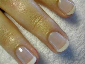 American manicure - THIS is how I want my nails to look.