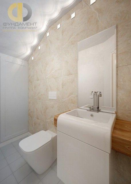 Дизайн интерьера ванной загородного дома в стиле современный прованс