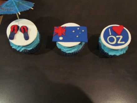Australian themed cupcakes