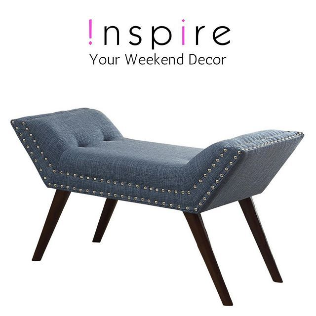 Having the right decor takes the stress out of weekend entertaining! For example, the Lana bench from !nspire...  https://www.houzz.com/photos/64609014/Fabric-Bench-with-Stud-Detail-Beige-transitional-upholstered-benches