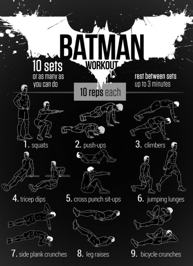 Keep Your Resolve With the #Batman Workout...