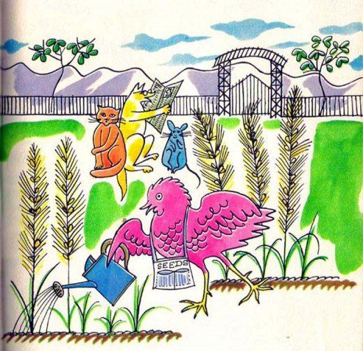 """Andy Warhol - """"The Little Red Hen"""" for Best of Children's Books. 1958"""