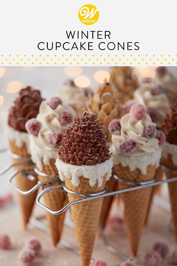 These Winter Pine Cone Cupcakes Are An Elegant And Striking