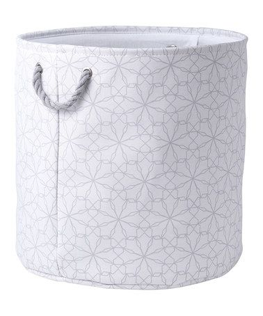 Another great find on #zulily! Gray & White Mosaic Laundry Bin #zulilyfinds