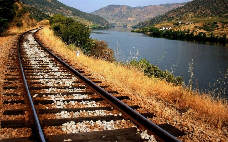 Train Tracks Along The River wallpapers