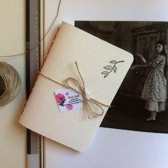 Pocket notebook *twiggy* fatto a mano