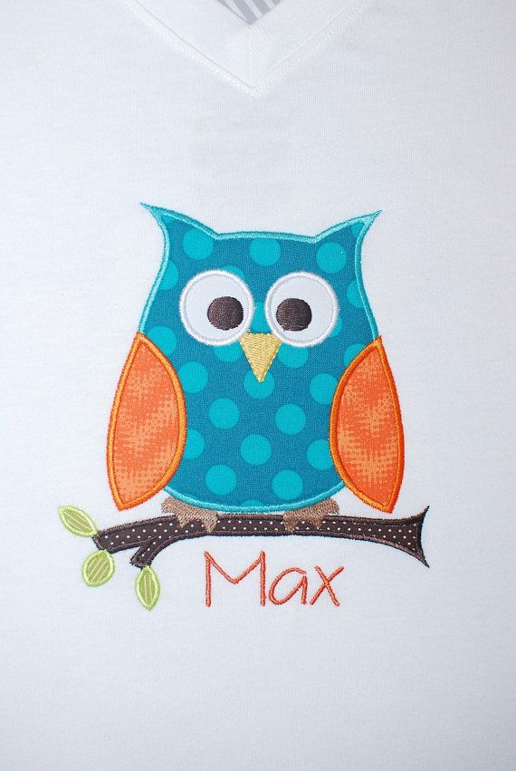 INSTANT DOWNLOAD, Machine Applique Design, Cutie Pie Owl with Branch