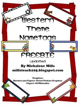 Western+Theme+Name+Plates+from+the+TEACHER+in+ME...and+YOU!+on+TeachersNotebook.com+-++(4+pages)+