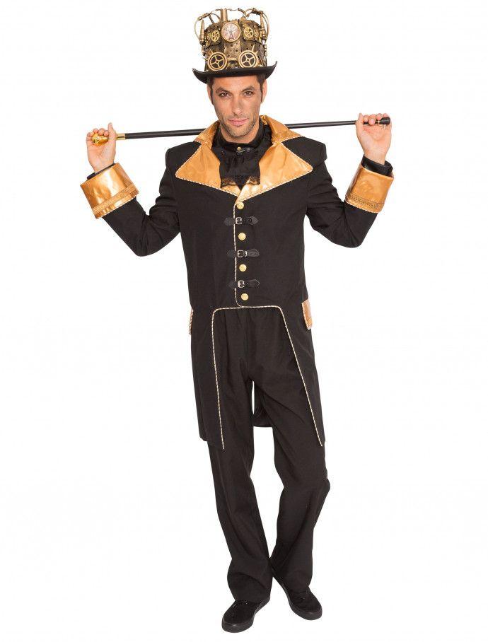Jacke Steampunk de luxe Herren schwarzgold